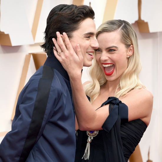 Timothée Chalamet Photobombs Margot Robbie at 2020 Oscars
