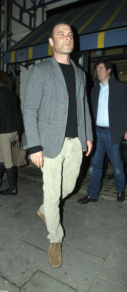 Liev Schreiber wore a gray blazer for the night out in London.
