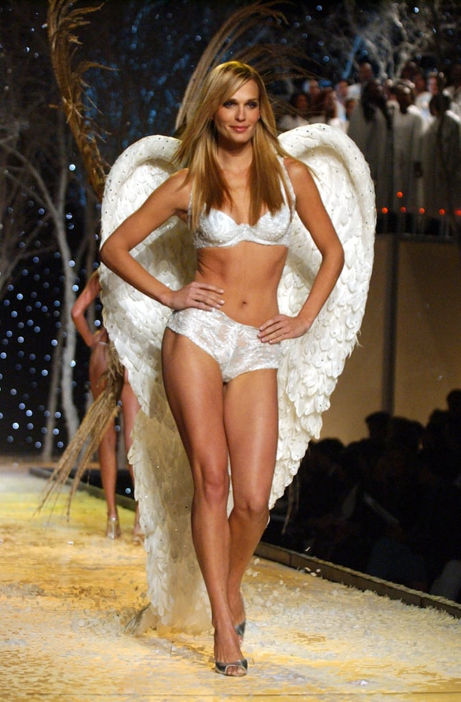 Molly Sims looked every bit like an angel on the 2001 runway.
