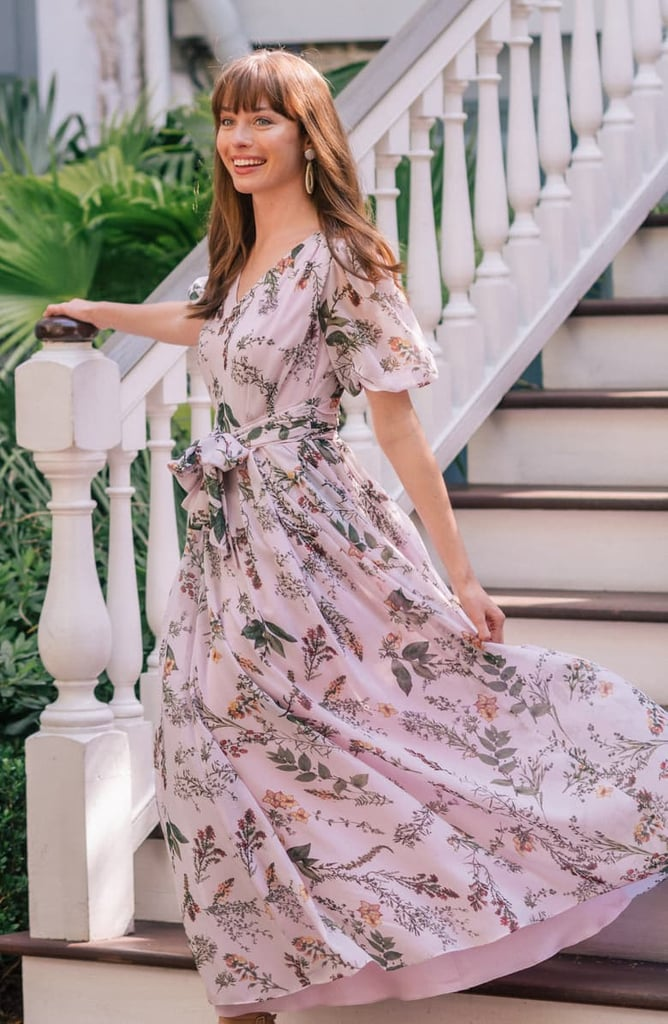 d3cdc354561d Gal Meets Glam Collection Phoebe Floral Puff-Sleeve Chiffon Maxi Dress