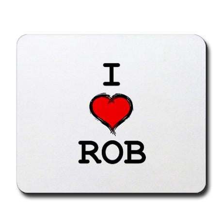 I Heart Rob Mousepad ($13)