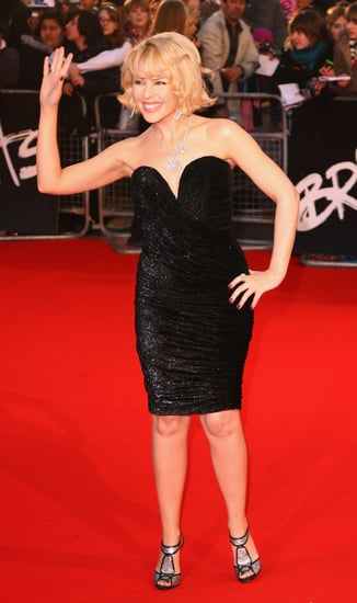 Kylie Minogue on the Brit Awards Red Carpet
