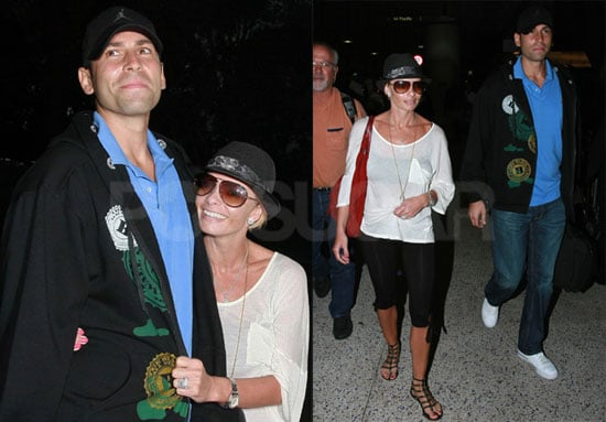 Photos of Newlywed Jaime Pressly and Simran Singh Arriving at LAX