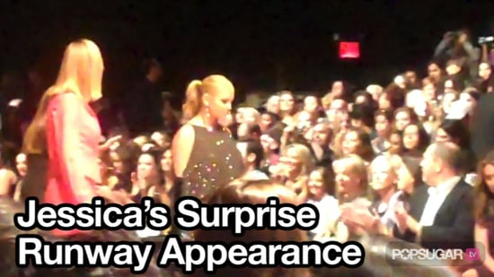 Video of Jessica Simpson at Project Runway Show For Season Finale