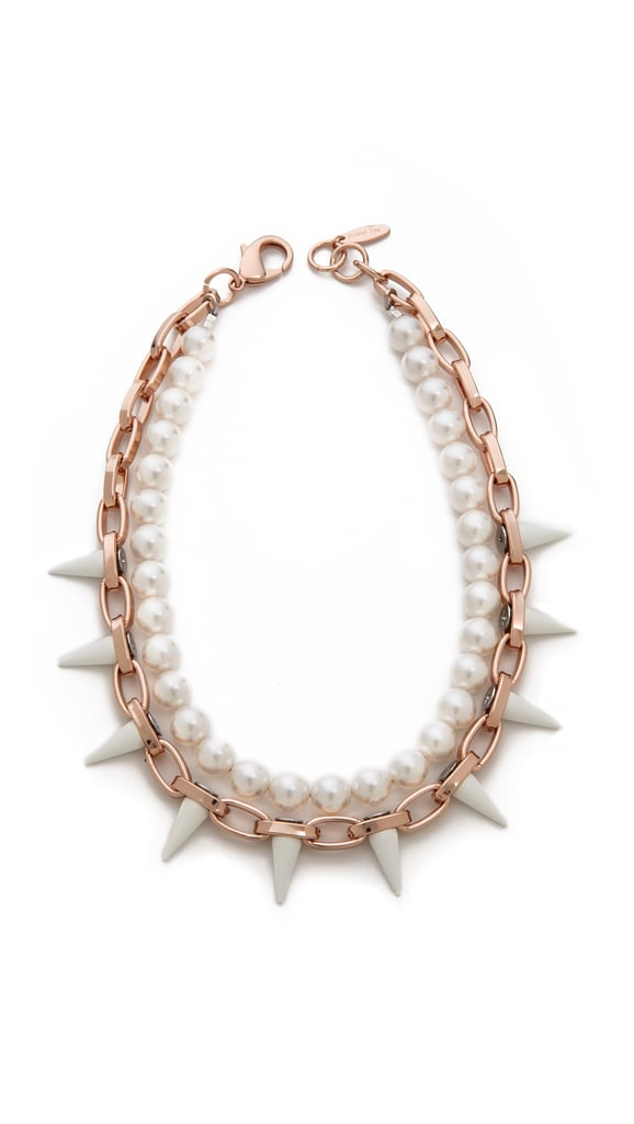 Joomi Lim Chain and Pearl Necklace