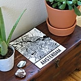 Use maps or travel prints as artwork for your decor