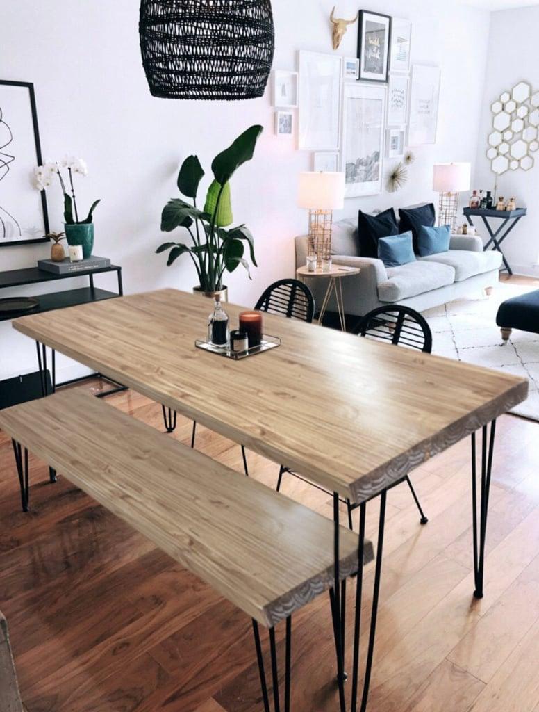 Reclaimed Wood & Metal Dining Table