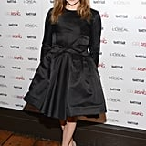 Chloë Moretz in Black Dior Bow Dress