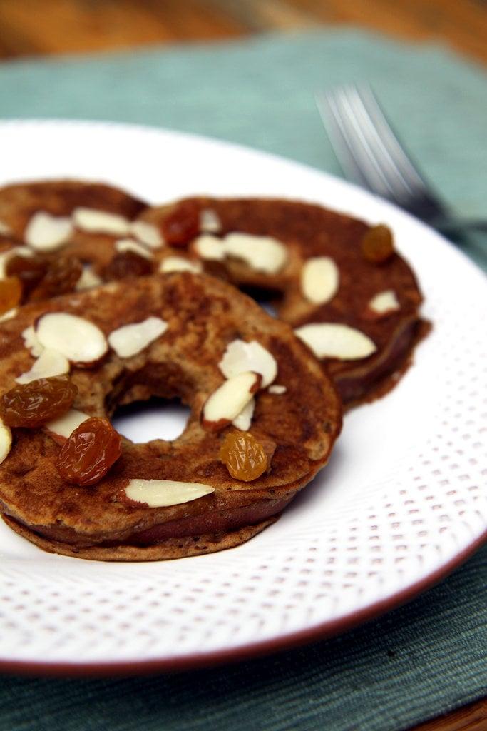 Apple Ring Oatmeal Pancakes
