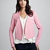 Need a little pink in your life? Then add this Theory pink cropped blazer ($395) to your wardrobe. And don't be afraid to colorblock it with hues like orange and red.
