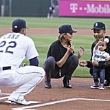 June: She Threw the First Pitch For the Seattle Mariners