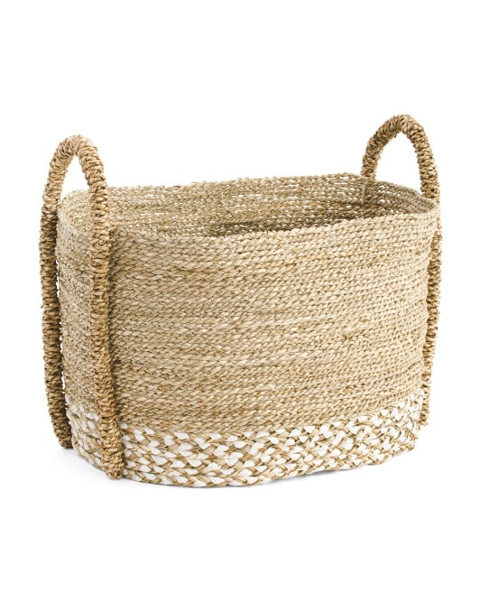 Large Oval Seagrass Storage Basket