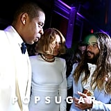 Jay Z, Beyoncé, and Jared Leto