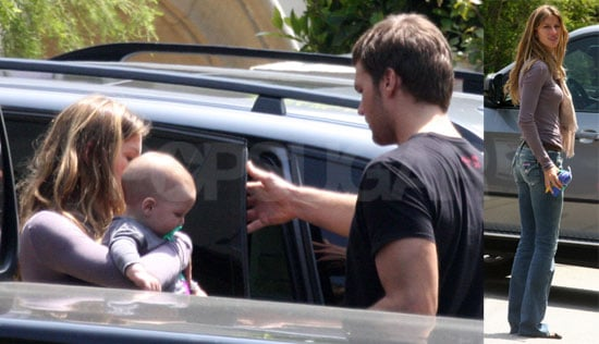 First Photos Of Tom Brady and Gisele Bunchen With his Son John