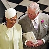 She and Charles chatted on their way into St. George's Chapel.