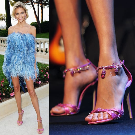 Anja Rubik's Jeweled Shoes