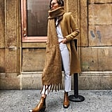 A Trench Coat and Large Scarf