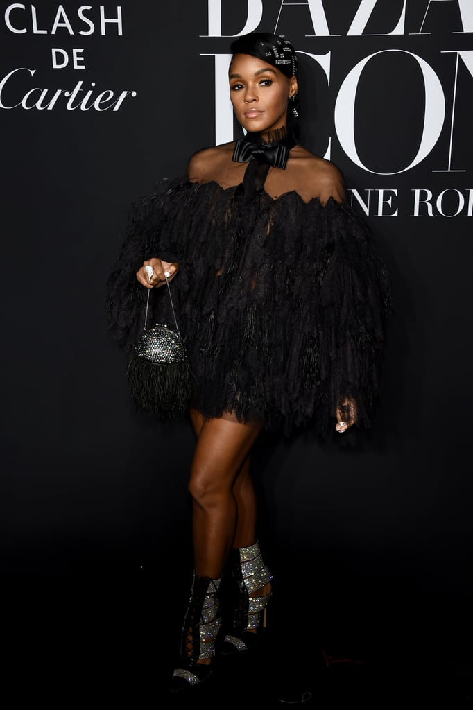 Janelle Monáe at the Harper's Bazaar ICONS Party During New York Fashion Week