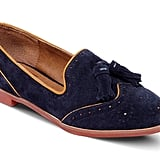 Back-to-school staple: DV by Dolce Vita Millie Oxford Flats ($79) Why it shouldn't be overlooked: This loafer is what happens when academia and the classic smoking slipper come together in a beautiful shoe marriage. We love the look of the blue suede against a burnt-orange lining: it's got that old-school feel with all the makings of a go-with-everything versatility. Wear it with ankle-cut jeans and a printed blouse, or pair it with a flowy chiffon dress.