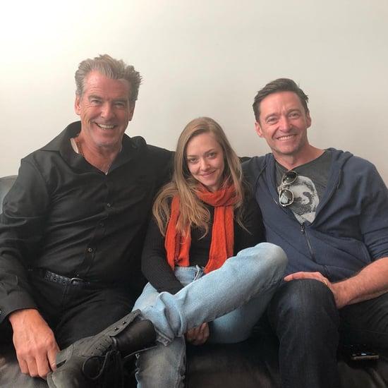 Pierce Brosnan Photo With Amanda Seyfried and Hugh Jackman