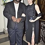 Robin Wright held Steve McQueen's arm at the Capitol File event on Friday.