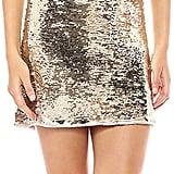 Adrianna Papell Sleeveless Sequin Halter Sheath Short Dress