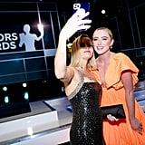 ريس ويذرسبون وكاثرين نيوتن في حفل جوائز نقابة ممثلي الشاشة SAG لعام 2020