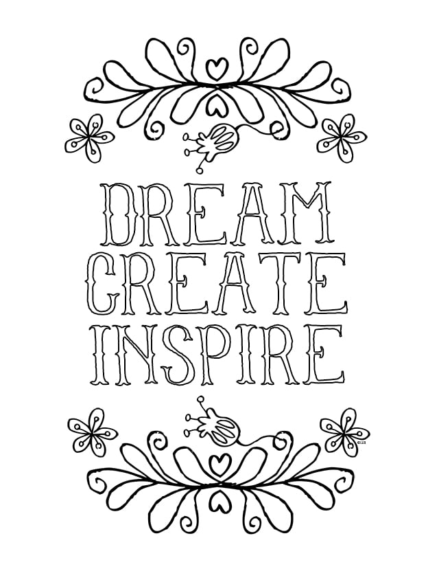 sayings and quotes - Inspirational Coloring Pages For Adults