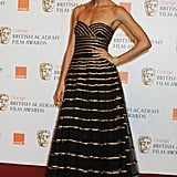 Thandie Newton wore black and gold in 2009.