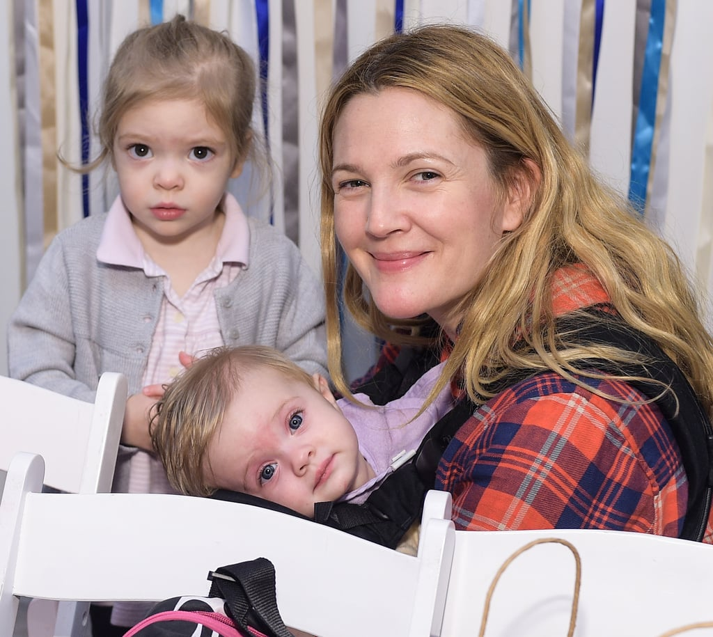 Drew Barrymore With Daughters at Jessica Alba's Event