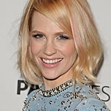 PaleyFest 2012 honoured Mad Men, and January Jones ditched her seriously styled Betty Francis character for a studded dress and pastel-pink streaks.