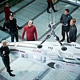 Alice Eve, Simon Pegg, and Chris Pine in Star Trek Into Darkness.