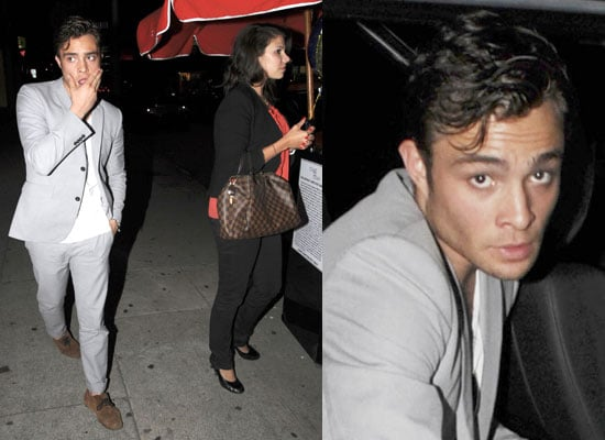 Photos of Ed Westwick With Mystery Woman