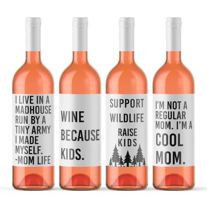 We Can't Believe What's Written on These Wine Labels, But We Bet Mom's Gonna Love Them
