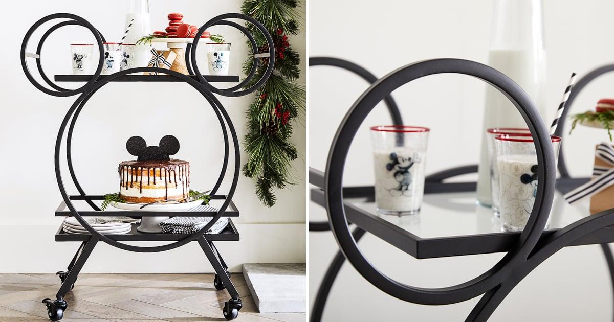 Shop Pottery Barn's Mickey-Shaped Bar Cart | POPSUGAR Home ...