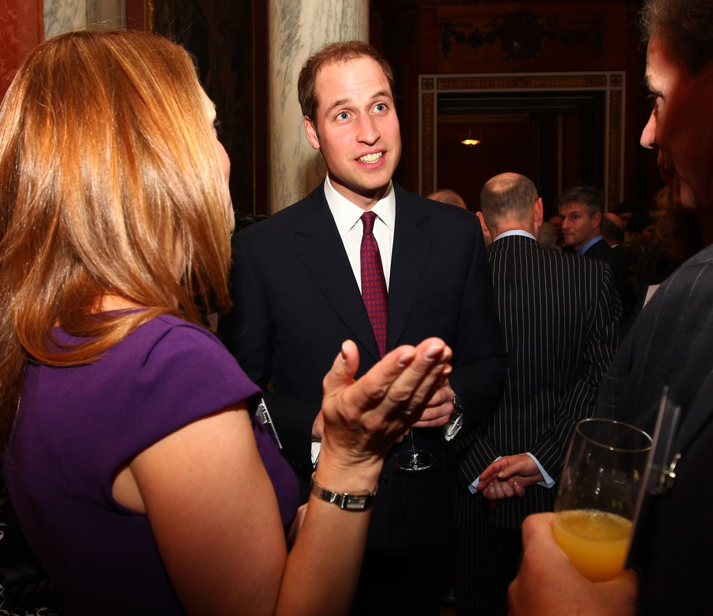 Prince William attended a reception held by Queen Elizabeth for members of the media last November to mark the upcoming Jubilee.