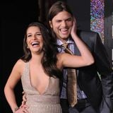 Lea Michele and Ashton Kutcher at New Year's Eve Premiere (Video)