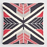 Woven Angles Indoor Outdoor Throw Pillow