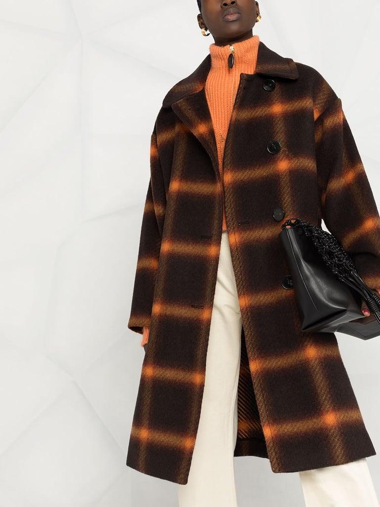Stella McCartney Check-print Single-breasted Coat