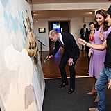 Prince William and Kate Middleton Painting Video 2018