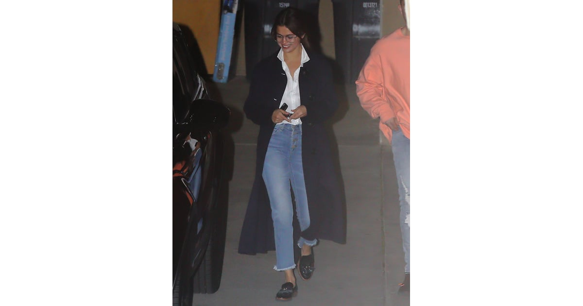ecc675b286b Selena Gomez Wearing Glasses and Loafers