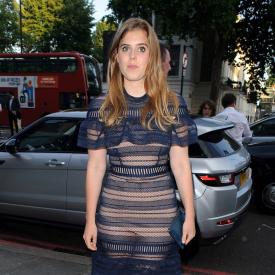Princess Beatrice Blue Self-Portrait Dress