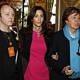 Paul McCartney and Nancy Shevell joined James McCartney at the Stella McCartney Fall 2012 show.