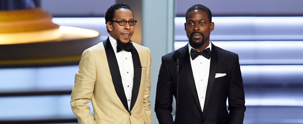 Sterling K. Brown and Ron Cephas Jones at the 2018 Emmys
