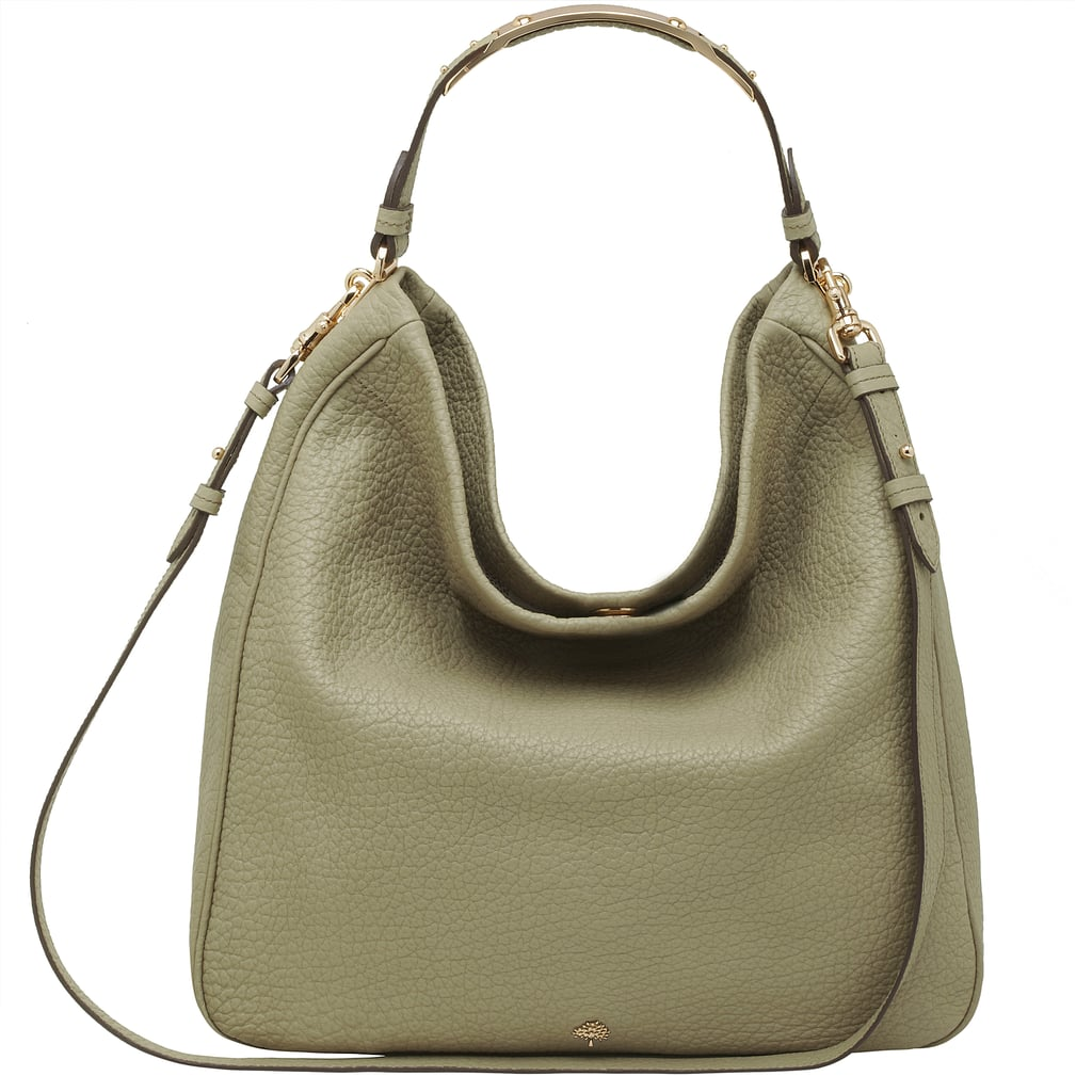 36ae4dd4db Evelina Hobo in Summer Khaki Soft Large Grain - £795