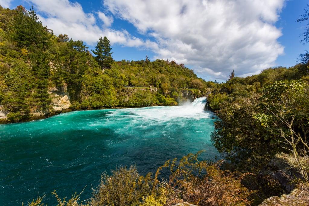 Visit the Huka Falls in New Zealand