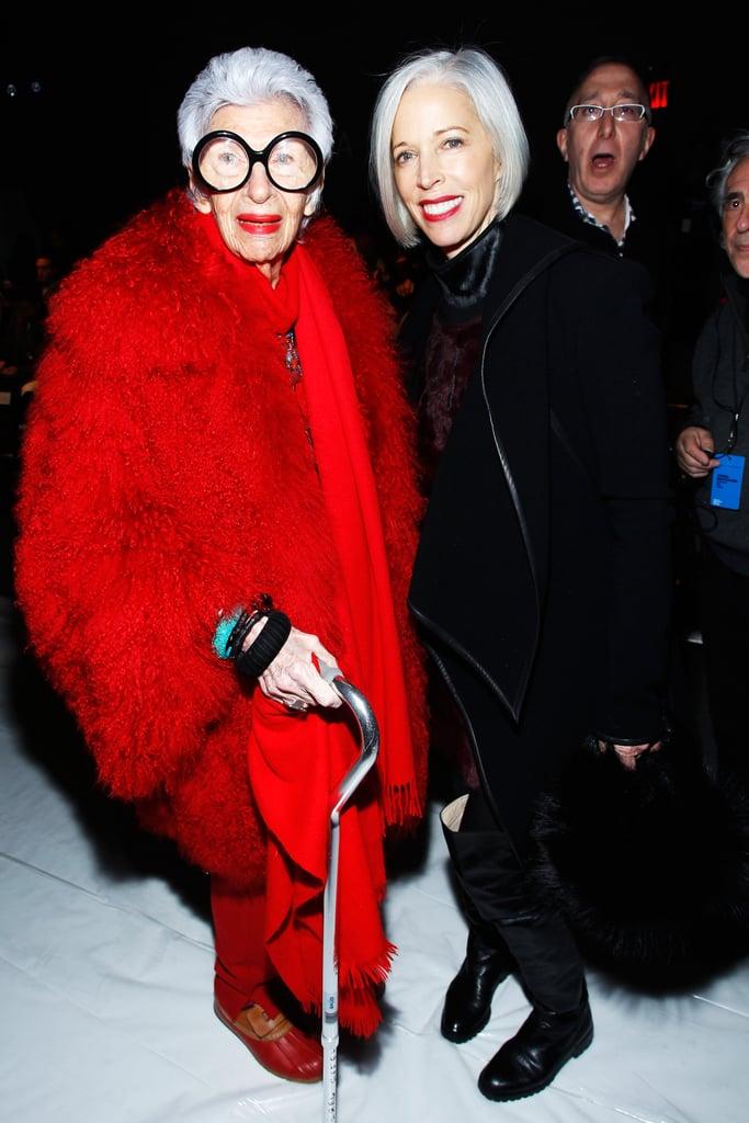 Iris Apfel and Linda Fargo