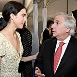 Margaret Qualley and Henry Winkler at the 2020 Critics' Choice Awards