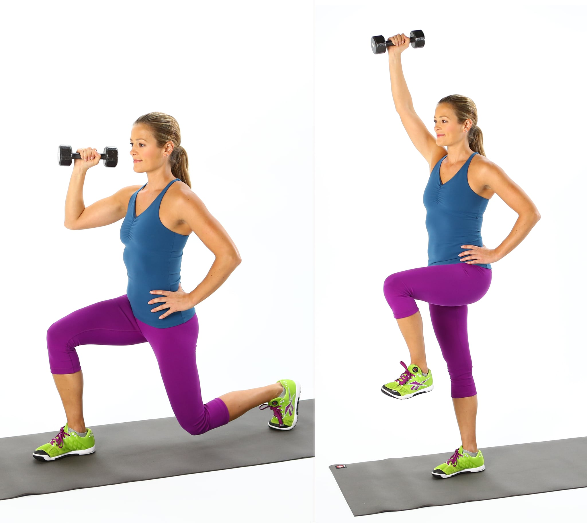 Lunge With Overhead Lift