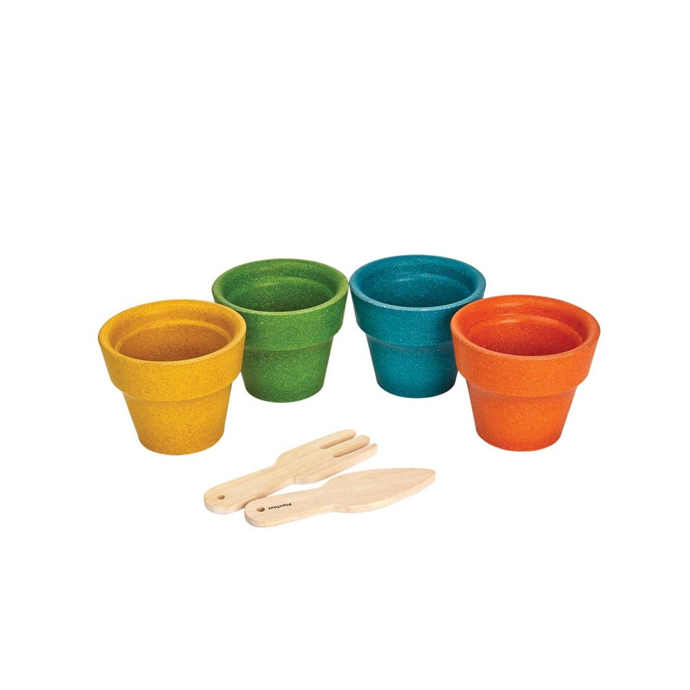 Plan Toys Sustainable Play Flower Pot Set
